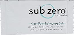 Sub zero LZ5115 Pain Relieving Gel, Clear (Pack of 100)