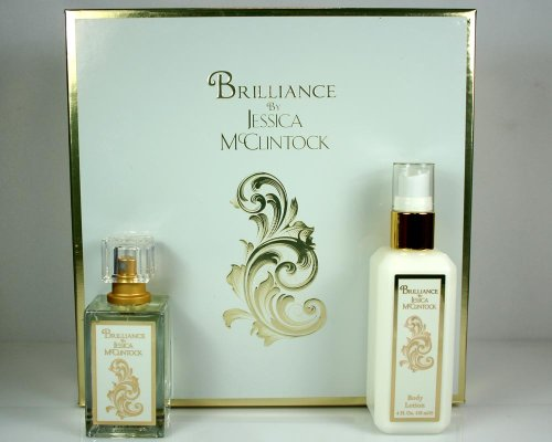 Brilliance By Jessica Mcclintock Set for Women, 1.7 Oz Eau De Parfum + 4 Oz Body ()