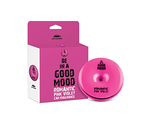 Be in a Good Mood Car Fragrances   Essential Oils   Car Air Freshener with Easy-to-Use Air Vent Diffuser   Boost Your Mood & Eliminate Unpleasant Odors (Pink Violets)