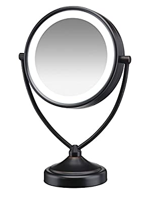Best Cheap Deal for Round Shaped Natural Daylight Double-Sided Lighted Makeup Mirror; 1x/10x magnification by Conair - Free 2 Day Shipping Available
