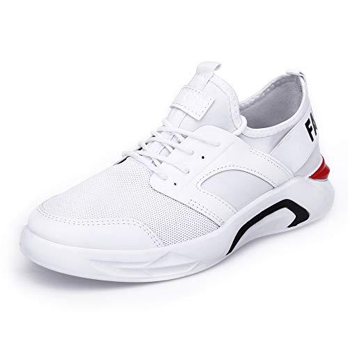 メッシュ恥ずかしさ分布メンズ軽量カジュアルシューズラージサイズサマーメンズシューズマラソンランニングシューズ学生白靴メンズワイルドショックアブソーバースポーツシューズ