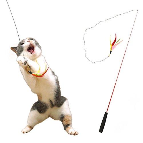 iCat FLYING CAT 釣りざお猫じゃらし カラフルフェザー 猫 おもちゃの商品画像