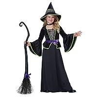Disfraces de California Disfraz de bruja /niño clásico, Un color, Medio