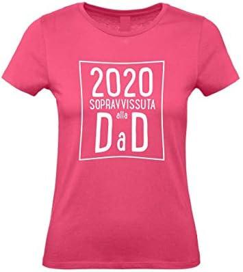 VestiLoStaff Maglietta Donna Sopravvissuta Dad didattica a Distanza Idea Regalo Insegnante maestra 100/% Cotone