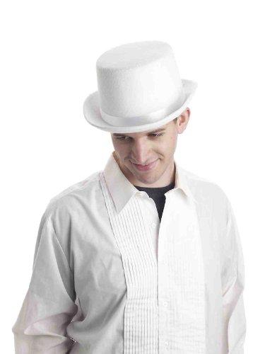 Forum Novelties Men's Super Deluxe Top Hat-White Party Supplies, Standard]()