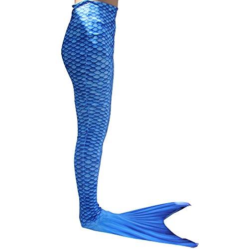 Dressyday Mädchen Gemalt Meerjungfrau Kostüm Meerjungfrauenschwanz für Kinder Schwimmen mit Meerjungfrau Flosse