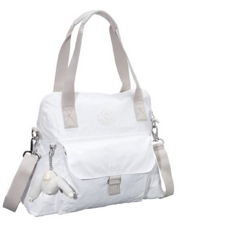 Kipling Luggage Pahniero Coated Handbag, Lacquer White, Medium, Bags Central