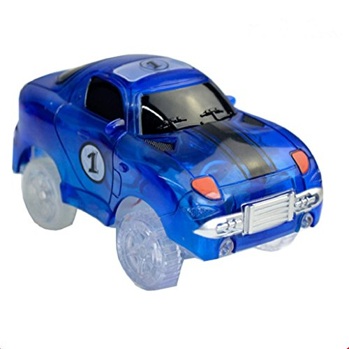 potato001 Mini Battery-operated Toy Car Bend Motor-driven Light Up SUV's LED Cars Set (Dark Blue)