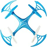 Owill 2.4Ghz 6 Axis Gyro Quadcopter 0.3M Camera WIFI FPV Headless Mode Altitude Hold RC Drone (Blue)