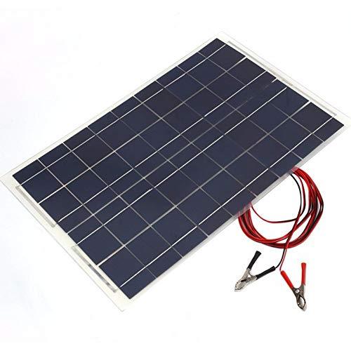 Kit de système solaire 30 W 12 V Panneau solaire avec contrôleur 12 V 24 V Inverter Batterie solaire semi-flexible pour voiture bateau