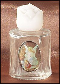 Guardian Angel Glass Top Table (Guardian Angel Glass Holy Water Bottle)