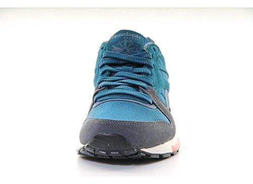 De Cuero Mujer Zapatillas Reebok Azul Para qEPq5