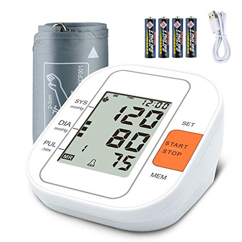 Blood Pressure Monitor Upper Arm,FDA Approved Digital Accurate BP Machine for Home Use with Adjustable Wrist Cuff, 2×99 Reading Memory, Large Screen,Device Bag,4AAA Included