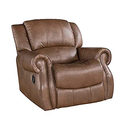 Astonishing Amazon Com Abbyson Calabasas Mesa Leather Recliner In Camel Ibusinesslaw Wood Chair Design Ideas Ibusinesslaworg