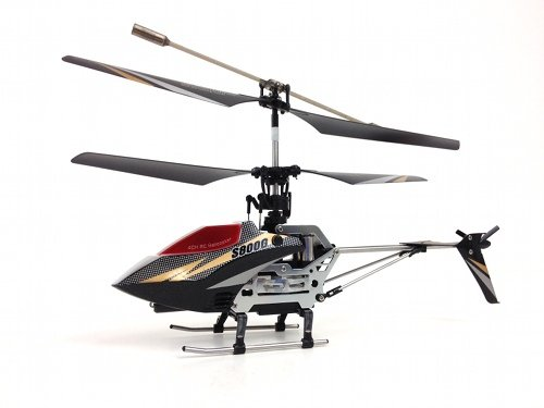 Syma S800G 4 Channel Remote Control Helicopter with Bonus Parts – Black & White