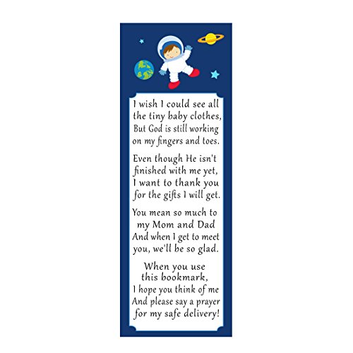 50 Bookmarks Baby Shower Party Favor Gift Idea Astronaut Space Planets