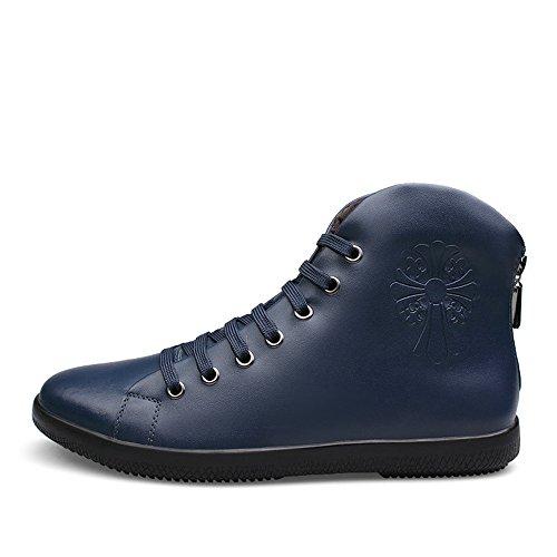 Jin Mode Hommes Garder Chaud Bottes En Peluche Toile Cheville Boot Neige Chaussures Hommes Bottes De Neige Grande Taille Toile Bleu
