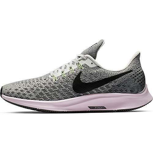 (Nike Women's Air Zoom Pegasus 35 Running Shoes Vast Grey/Pink Foam/Lime Blast/Black 8 M)