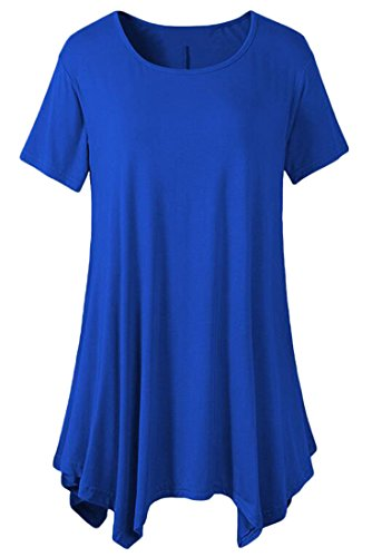 Dress Shirt Shirt Sapphire Tunic Short Womens Blue Cute Jaycargogo Swing Dress Sleeve T T Casual Dress Sq6wXn7In