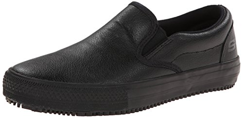 Skechers for Work Women's Maisto Slip-On,Black,6.5 M US (The Best Work Shoes For Restaurants)