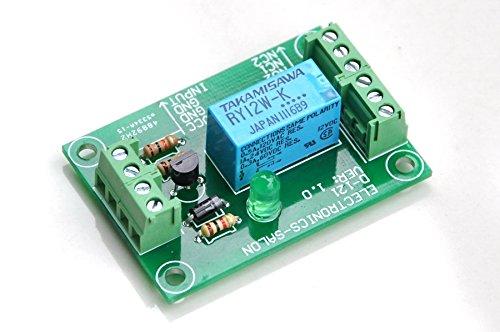 ELECTRONICS-SALON DPDT Signal Relay Module, 12Vdc, RY12W-K Relay. Has Assembled.