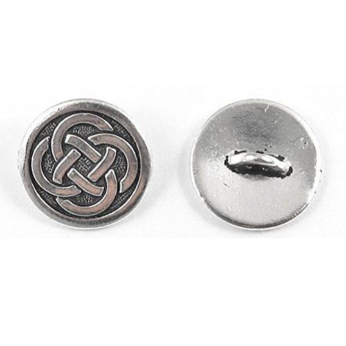 TierraCast Pewter Buttons-SILVER CELTIC KNOT (2)