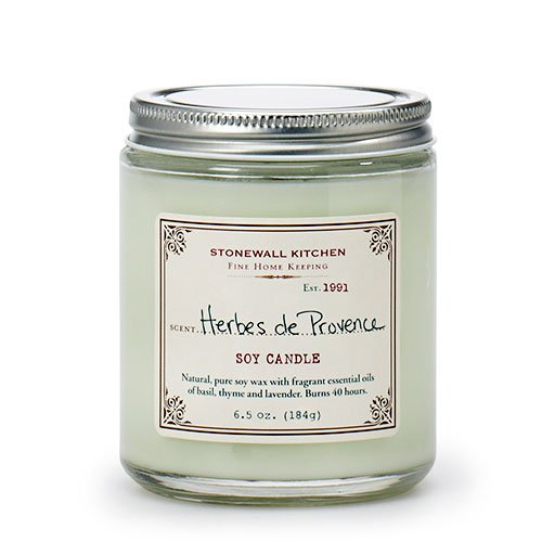 Kitchen Candle - Stonewall Kitchen Herbes de Provence Soy Candle, 6.5 oz