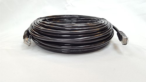 Cable Sourcing - 131ft, 100ft, 66ft, 33ft CAT5e, EXTERNAL & INTERNAL, Ethernet cable, CCTV, 100% Solid Copper, 10/100/1000mb, RJ45, Networking &Patch Cable, LAN, BLACK 5 IDEAL for connecting to CCTV devices, IP camera's, Computer Networking cabling, Switches, Routers, Modems, Hubs, VoIP telephone systems, Smart TV, Xbox, Playstation, Nintendo Wii, Satellite/Cable TV Box. OUTDOOR and INDOOR use, constructed from high quality weatherproof (protects against water, heat and cold) PE jacket and UV resistant for long life and durability which allows for perfect outdoor use and burial, so why rely on a weak WiFi signal in the garden/garage when you could have a solid signal strength. 100% SOLID COPPER CORE 0.51mm, data speed (10/100/1000mb), RoHS Compliant, TIA/EIA 568B Standard, Fluke tested - professional quality for High Definition (HD). UTP (Un-shielded Twisted Pair), 8 Core with 4 twisted pairs (white/blue, white/green, white/orange, white/brown)