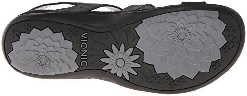 with Vionic Orthaheel Sandal Black Womens Amber Technology 9 pPHqw1P