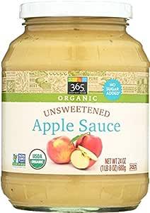 365 Everyday Value, Organic Apple Sauce, Unsweetened, 24 oz
