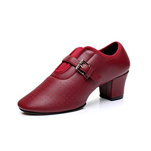 XUE Women's Modern Shoes Latin Shoes Leather Loafers & Slip-Ons Dance Shoes Comfort Square Dance Shoes Oxford Sneakers Rounded Toe A o6Ahet