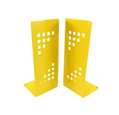 Geometric Tall Non-Skid Metal Bookends10
