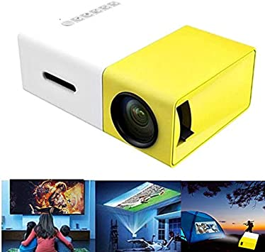 Outdoor Entertainment New Portable Theater Home Office HD 1080P Yellow LED Home Office HD Mini Projector Multimedia for Children Present Ohyoulive Mini Projector Party Game Video TV Movie