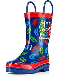 Little Boys' Character Printed Waterproof Easy-On Rubber Rain Boots (Toddler/Little Kids)