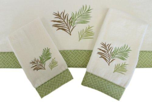 Sherry Kline Sago Palm 3-piece Decorative Towels by Sherry Kline Decorative Towel