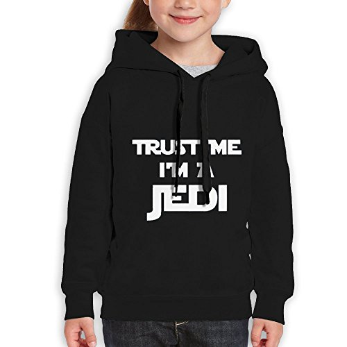 Price comparison product image FDFAF Teenager Youth Trust Me I'm A Jedi B-boy Fashion Hoodie Sweatshirt S Black