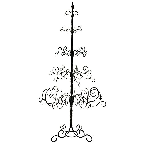 Patch Magic WITREE-01-07 7 Ft Wrought Iron Christmas Tree, 5 Levels, Black