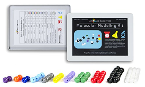 Molecular Model Kit Biochemistry (240 Pieces) - Chemistry Organic and Inorganic Modeling Students Set