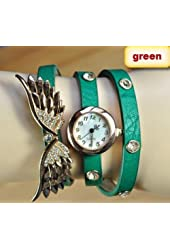 2014 new style fashion ladies watches wing rhinestone gold plated bracelet JEW SJA0846535262CO TYPE 4