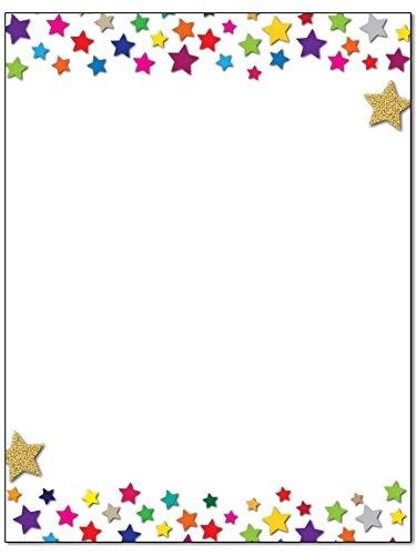 Star Stationery - 8.5 x 11-60 Letterhead Sheets - Star Border Letterhead (Stars)