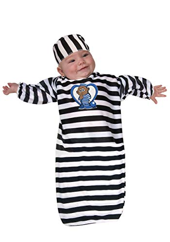 Rubie's Costume Tyke Or Treat Baby Bunting Costume Cute Little Convict, Convict Blue, 0-9 Months