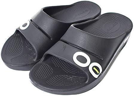 OOahh Sport Slide#1500 スポーツスライド サンダル Black/White ブラック サンダル リカバリーシューズ レディース メンズ [並行輸入品]