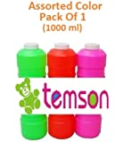 TEMSON Bubble Gun Refill Liquid - Bubble Solution - Bubble Gun Fuel - Automatic Bubble Machine Liquid (1 Liter Container, 1000 ml)