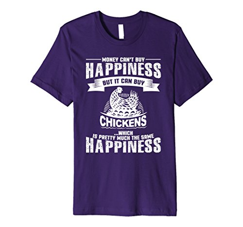 Men's Chickens Equal Happiness Chicken Lovers T Shirt Small Purple