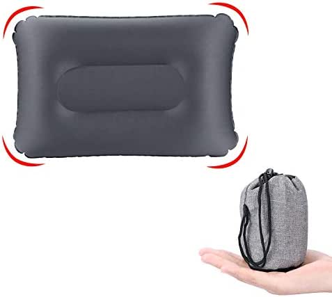 KUYOU Ultralight Inflatable Camping Travel Pillow, Compressible Compact, Comfortable,Inflatable,Ergonomic Inflating Pillows for Neck & Lumbar Support While Camp, Hiking, Backpacking