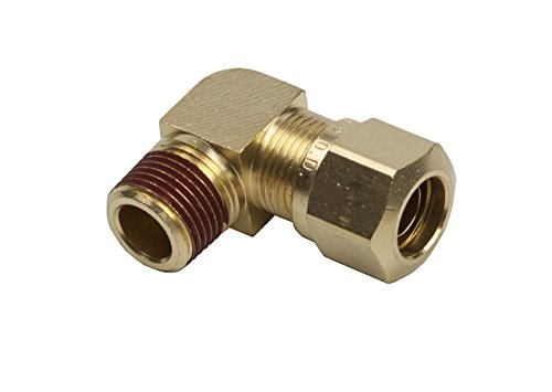 LTWFITTING DOT Air Brake Male Elbow, 3/8'' Tube OD x 1/4'' Male NPT Compression Fitting (Pack of 25 Sets) by LTWFITTING (Image #1)