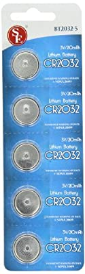 CR2032 Lithium Battery, Package of 5 (5 Packs 25 Batteries)