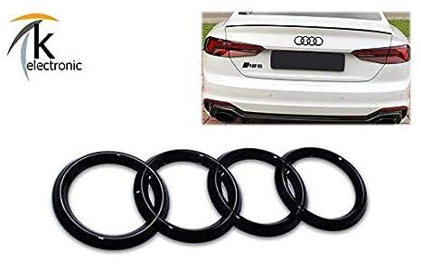 k-electronic Audi A5, S5, RS5 F5 B9 Coupé y Cabrio Emblema Negro Brillante/ Audi Anillos Trasera Trasera para Maletero: Amazon.es: Coche y moto