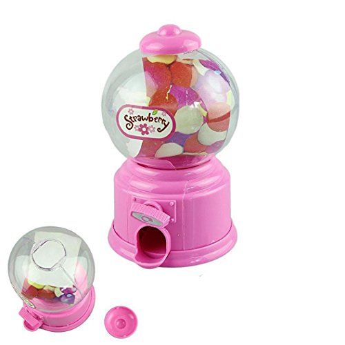 OVERMAL Cute Mini Candy Gumball Dispenser Kids Toy Vending Machine Saving Coin Bank