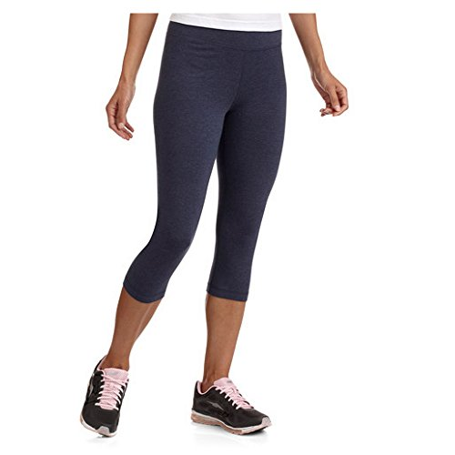 Danskin Now Womens Dri-More Cropped Leggings (Medium, Indigo Heather) (Capris Danskin)